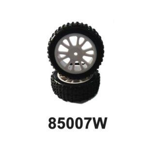 Predné gumy nalepené na bielych diskoch (HM85005W + HM85006) 2ks.