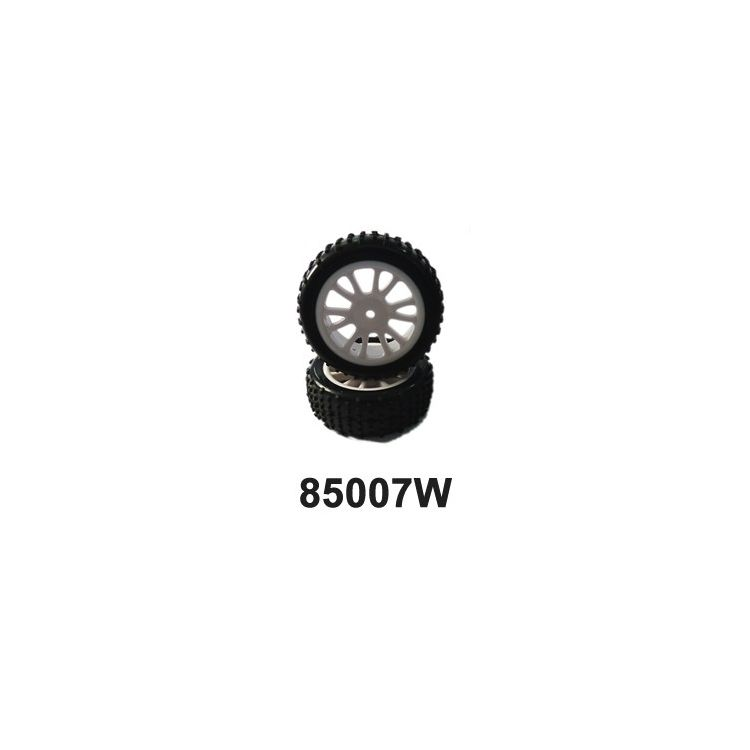Přední gumy nalepené na bílých diskách (HM85005W+HM85006) 2ks.