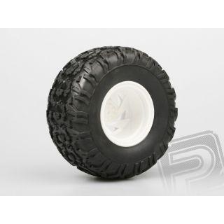 Nalepené Monster gumy na bielych diskoch, 1:10, 2ks.