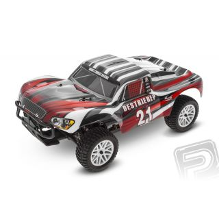 HIMOTO Short Course 1/10 scale RTR 4WD 2,4GHz - červené