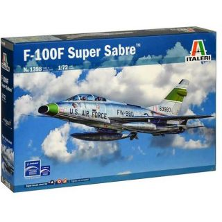Model Kit letadlo 1398 - F-100F SUPER SABRE (1:72)