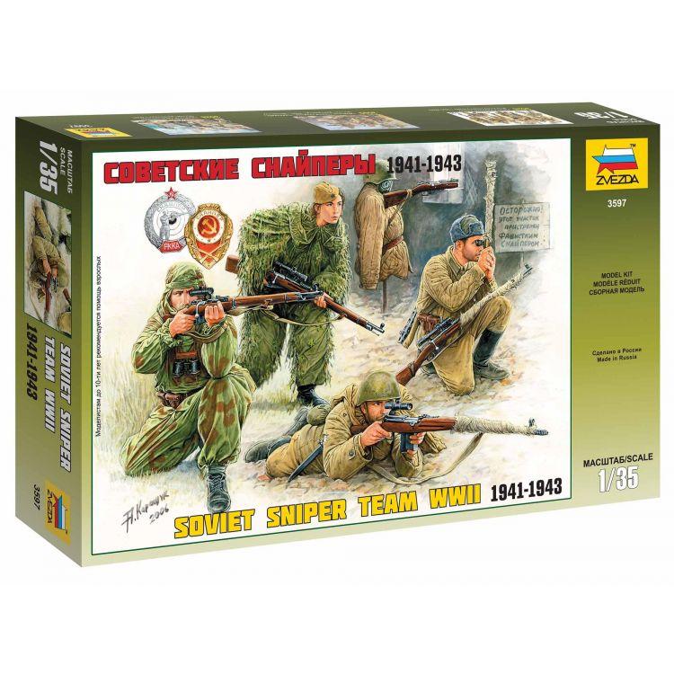 Model Kit figurky 3597 - Soviet Sniper Team (1:35)