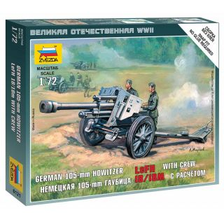 Wargames (WWII) military 6121 - German Howitzer leFH-18 (1:72)
