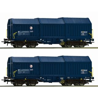Set dvoch krytých nákladných vagónov s teleskopickou strechou, ZSSK