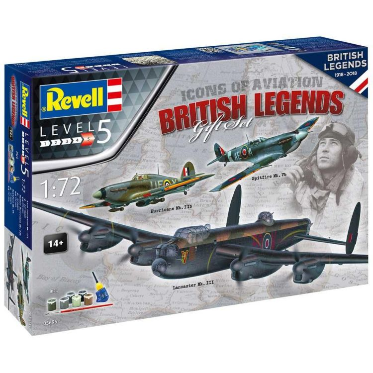 Gift-Set letadlo 05696 - 100 Years RAF: British Legends (1:72)