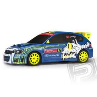 Micro RS4 Subaru WRX STI s 2,4GHz RC súpravou, kar. NO11 Sverre Isachsen
