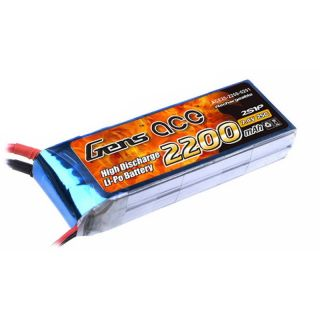 Gens ace 2200mAh 7.4V 25C 2S1P Lipo Battery Pack B-25C-2200-2S1P