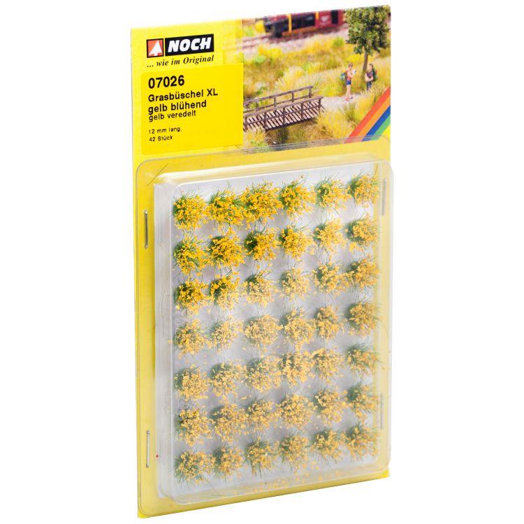 """Trávne trsy XL """"Kvitnúce"""", žlté, 12mm"""