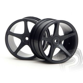 "Super Star disky 57x35mm (2,2"") černé (2 ks)"