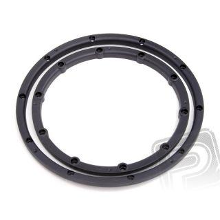 Pojistný kroužek kola, pro dva disky, černý 2ks