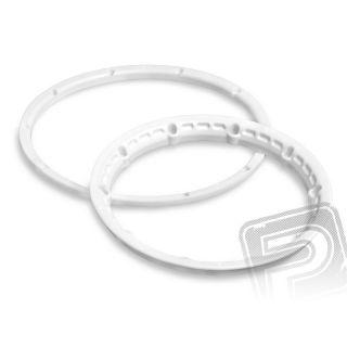Poistný krúžok kolesá, biely 2ks