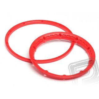 Poistný krúžok kolesá, červený 2ks