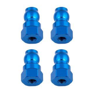 Vrchní modré hliníkové vložky tlumičů, 12mm, 4 ks.