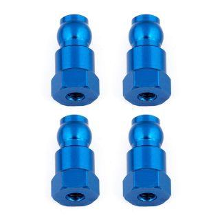 Vrchní modré hliníkové vložky tlumičů, 14mm, 4 ks.