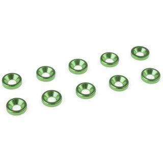 Podložka pre záp. skrutku M3 hliník zelená (10ks)