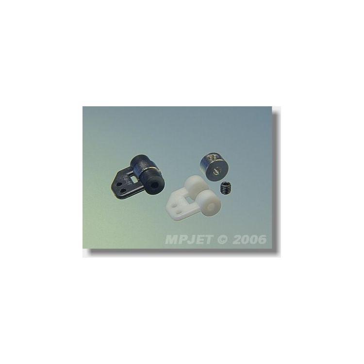 2261 Ovládací páka náhonu křidélek pr.2,5mm Bílá 2 ks