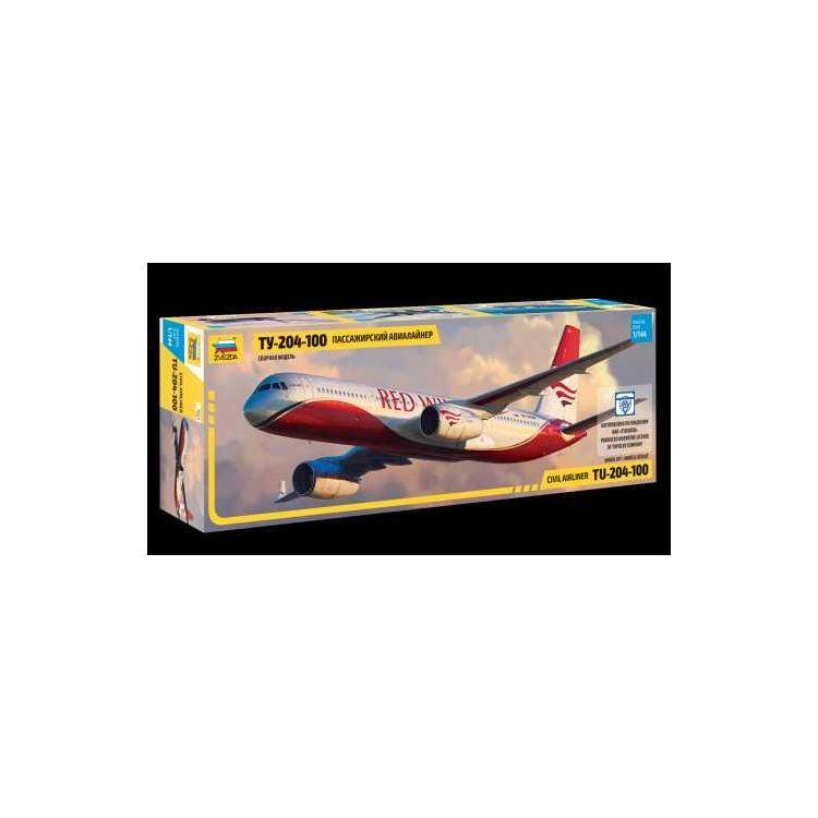 Model Kit letadlo 7023 - Tupolev TU - 204-100 (1:144)