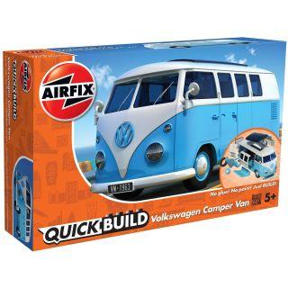 Quick Build auto J6024 - VW Camper Van - modrá