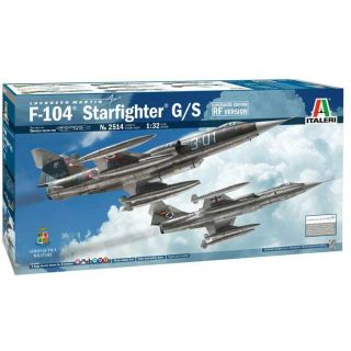Model Kit letadlo 2514 - F-104 STARFIGHTER G/S - Upgraded Edition RF version  (1:32)