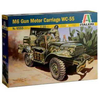 Model Kit military 6555 - M6 GUN MOTOR CARRIAGE WC-55 (1:35)