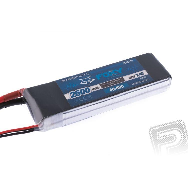 FOXY G3 - Li-Po 2600mAh/7,4V 40/80C 19,2Wh