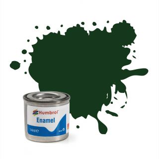 Humbrol barva email AA6330 - No 195 Dark Green Satin - 14ml