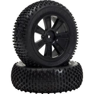 VTEC Kamikaze 4WD predné, nalepené gumy na čiernych diskoch - 1/10 Buggy J-zmes
