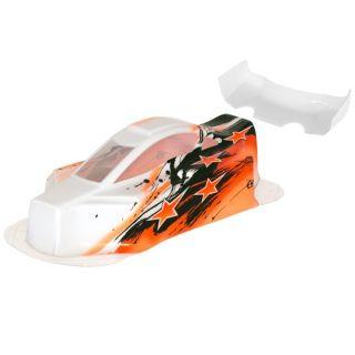 BX10 Bitty design lakovaná lexanová karoserie, oranžová