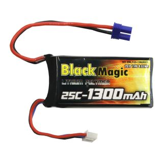 LiPol Black Magic 7.4V 1300mAh 25C EC2