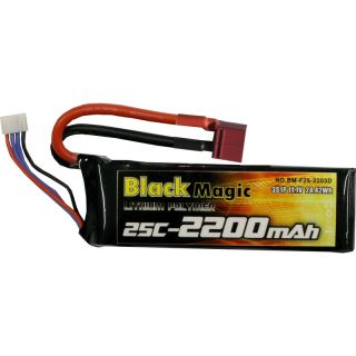 LiPol Black Magic 11.1V 2200mAh 25C Deans