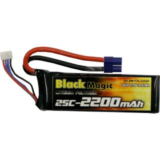 LiPol Black Magic 11.1V 2200mAh 25C EC3