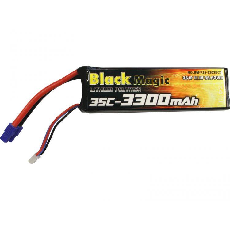 LiPol Black Magic 11.1V 3300mAh 35C EC3 350 QX3