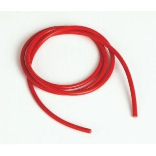 Silikónový kábel 3,3qmm, 12AWG, 1meter, červený