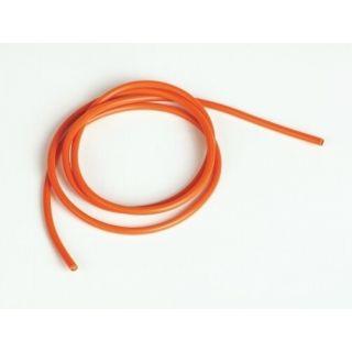 Silikonový kabel 3,3qmm, 12AWG, 1metr, oranžový