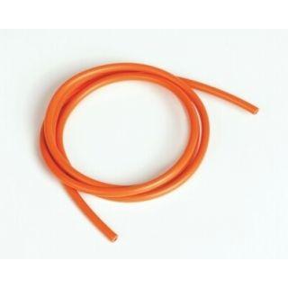 Silikonový kabel 4,1qmm, 11AWG, 1metr, oranžový