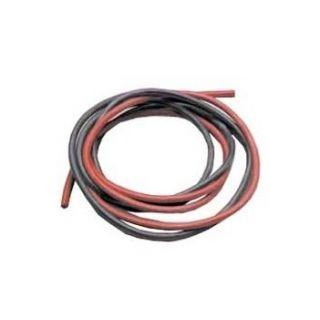 Silikonový kabel 4,1qmm, 11AWG, 2x1metr, černý a červený