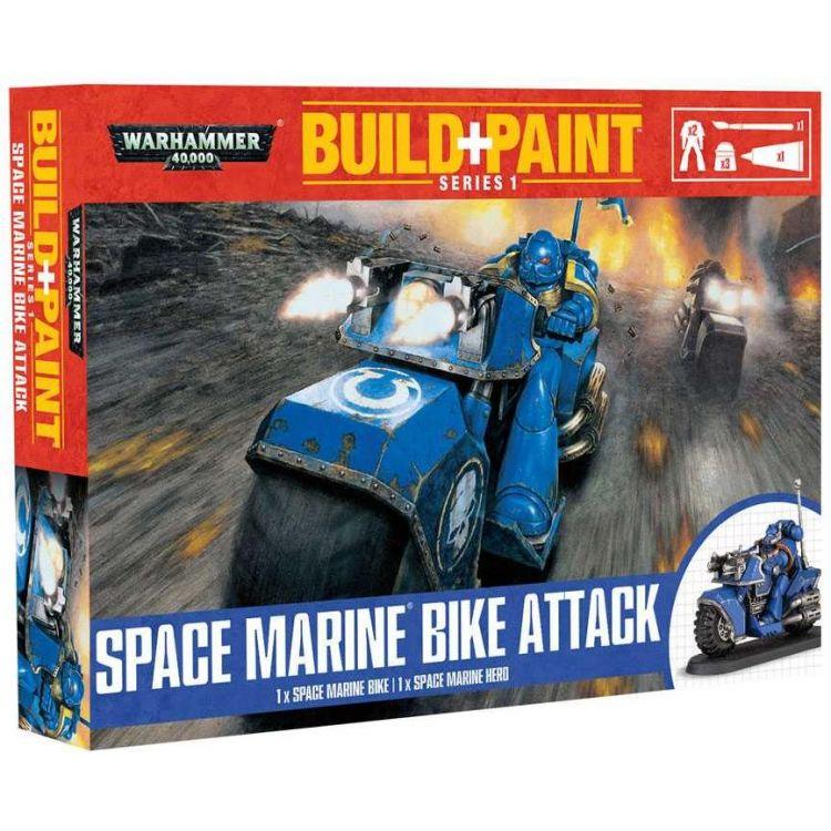 Build + Paint Warhammer 00082 - Space Marine Bike Attack