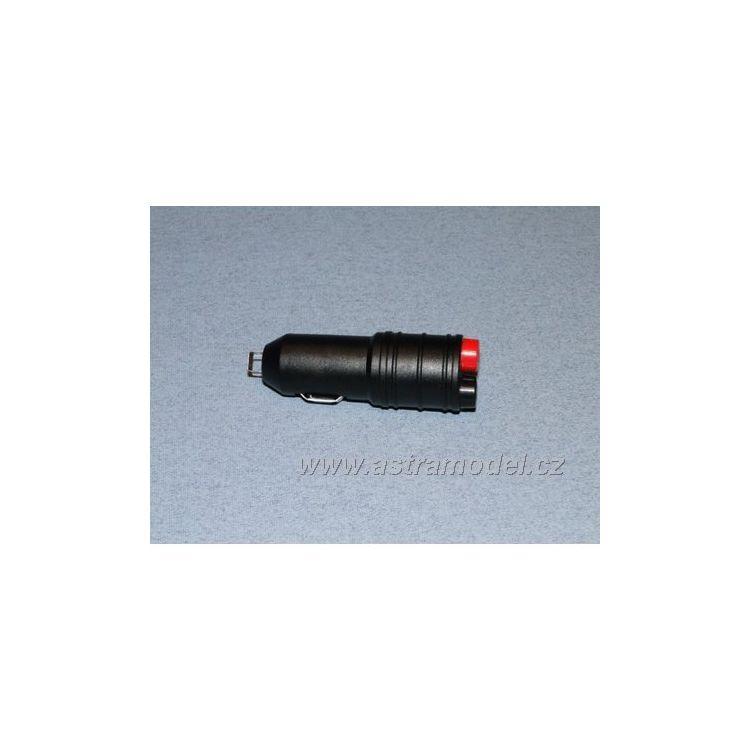 Autoadaptér do zapalovače s 4mm výstupem