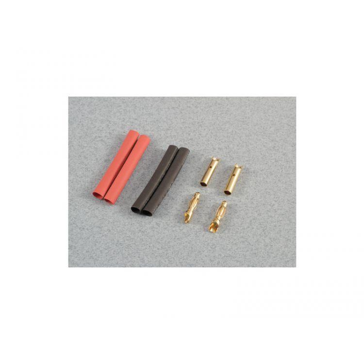 Konektor zlacený 4.0mm (2 páry)