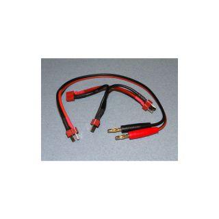Nabíjecí kabel s banánky - DEANS + 2x sér. DEANS