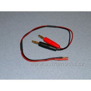 Nabíjecí kabel s banánky - 2mm (F+)(M-)