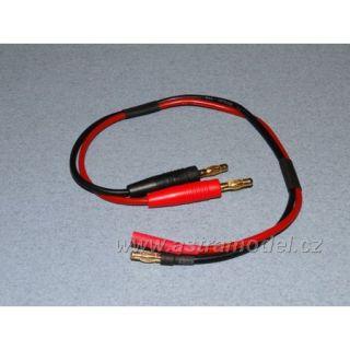 Nabíjecí kabel s banánky - 4mm (F+)(M-)