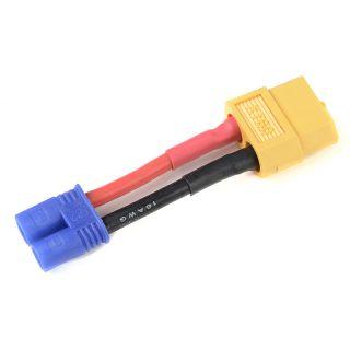 Konverzní kabel EC2 samice - XT-60 samec 14AWG