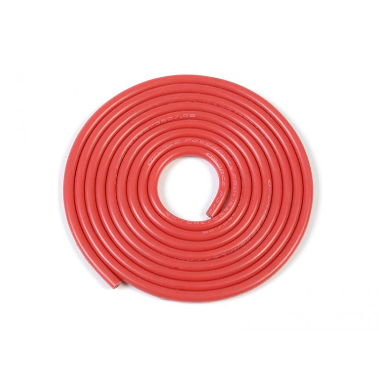 Kabel se silikonovou izolací Powerflex 18AWG červený (1m)