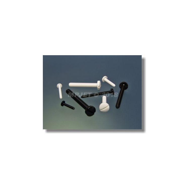 1320 Polyamidový šroub M5x30 Bílý 4 ks