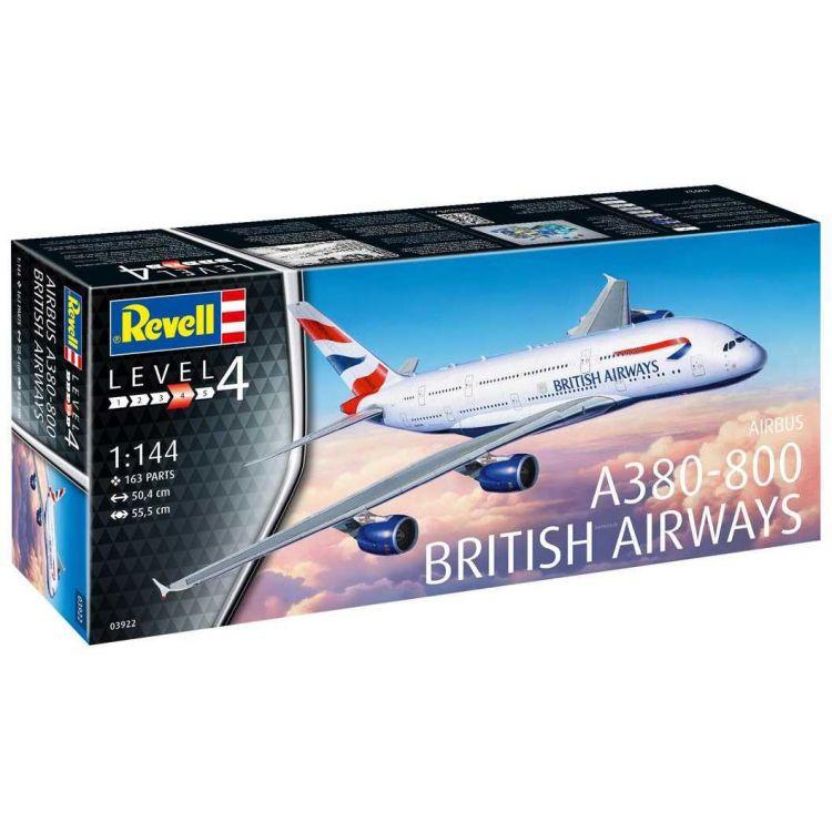 Plastic ModelKit letadlo 03922 - A380-800 British Airways (1:144)