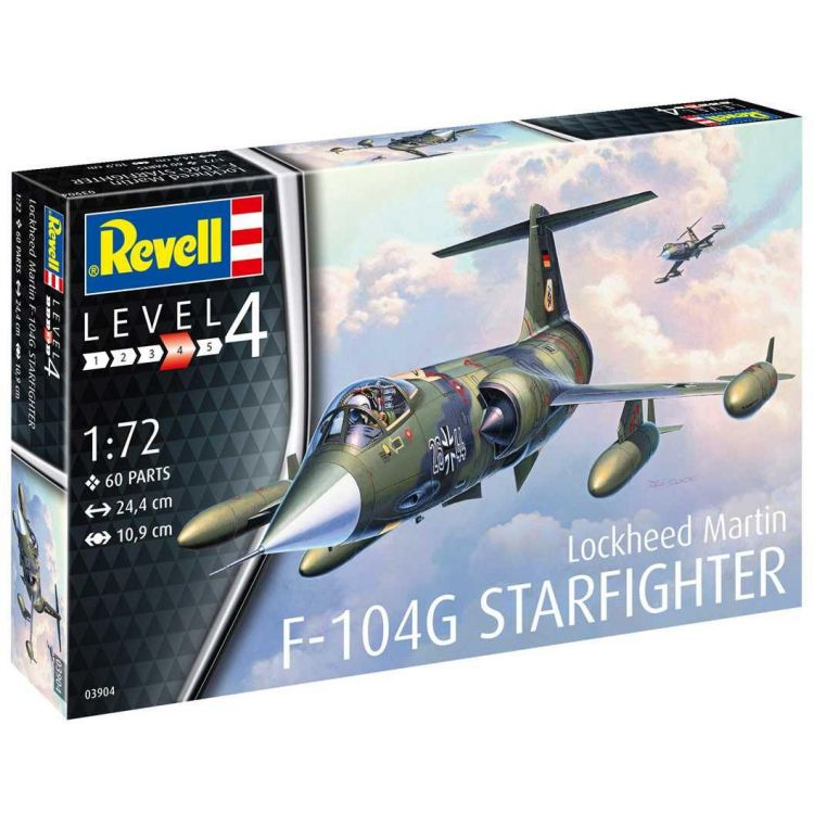 Plastic ModelKit letadlo 03904 - F-104G Starfighter (1:72)
