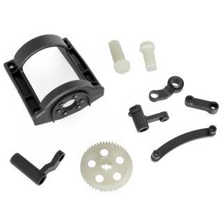 Ozubené kolo + kryt motoru + řízení - převodovka