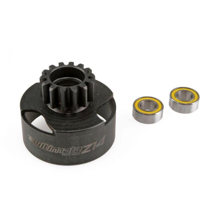 Ventilovaný spojkový bubínek Z14 zuby včetně dvou kuličkových ložisek
