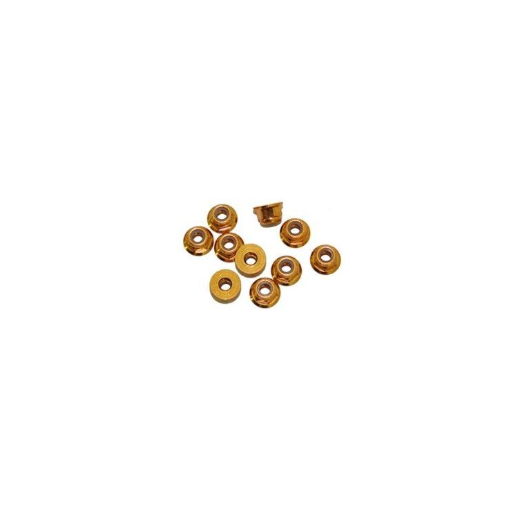 3 mm. alu samojistné matičky s osazením zlaté (10 ks.)